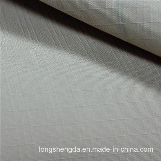 75D Water & Wind-Resistant Anti-Static Sportswear Woven Plaid Dobby Jacquard 100% Polyester Fabric Peach Skin (53142)