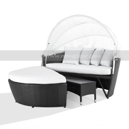 Garden Wicker/Rattan Daybed Outdoor Patio Furniture Lounge with Canopy (MTC-204)