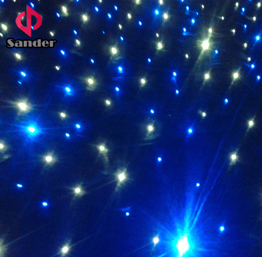 2016 Hot Events Backdrop LED Starlit Curtain for Wedding Party Decoration with Bar, Disco, Hotel etc