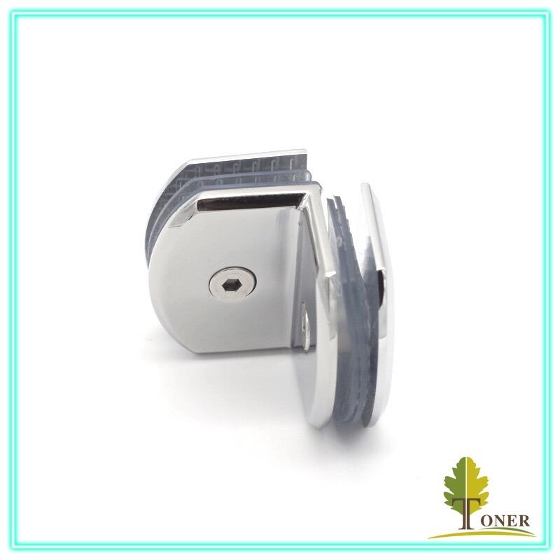Hot Sale Type Arc Edge 90 Degree Double Clamp/ Zinc Alloy Glass Clamp