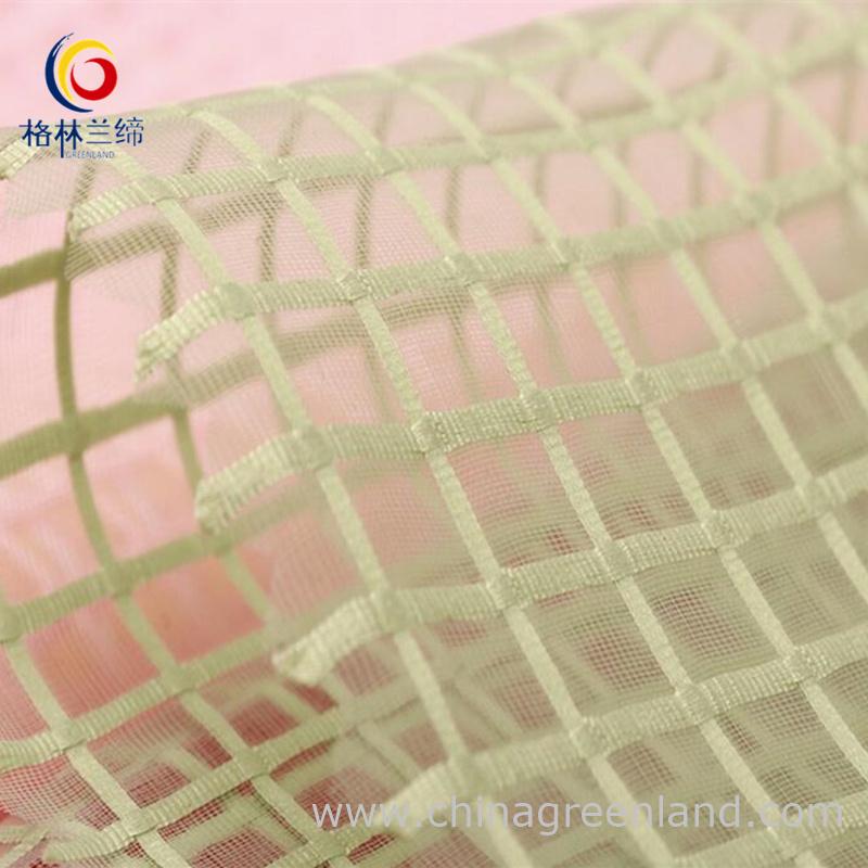 100%Polyester Organza Grid Organdy Fabric