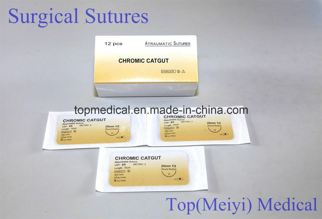 Surgical Suture Plain Catgut Chromic Catgut