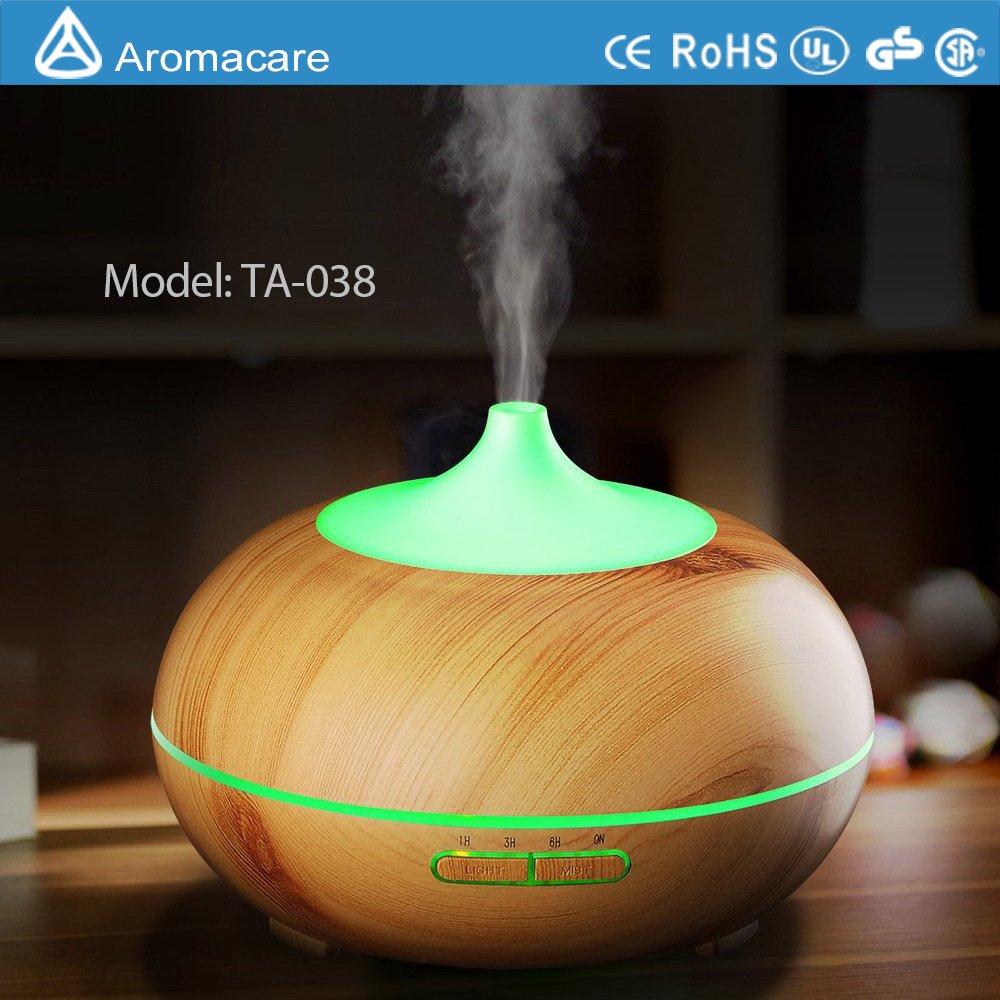 New Wood Grain Ultrasonic Cool Mist Humidifier (TA-032)
