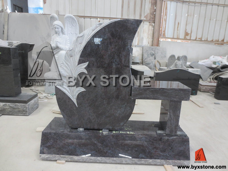 American Black Granite Monument / Headstones with Angel Carving