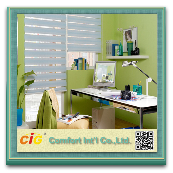 High Quality Zebra Blind Sheer Screen Printed Window Shade Roller
