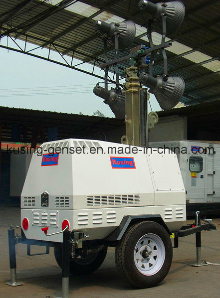 Portable Mobile Light Lighting Tower Generator Set Series