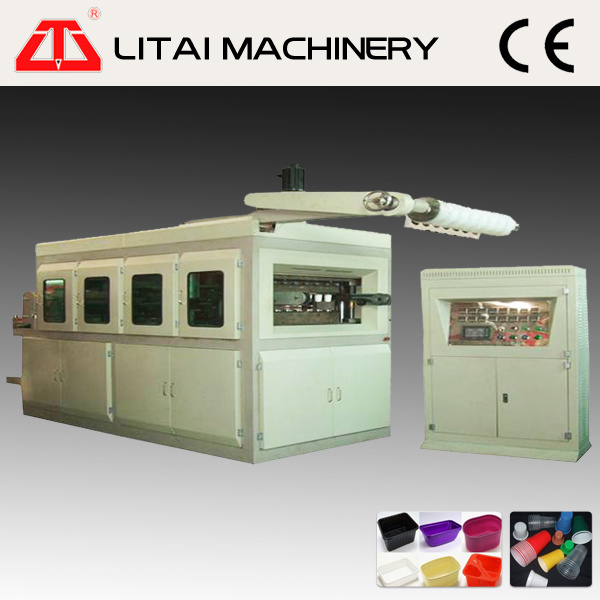 Servo Motor Control Ice Cream Cup Cover Lid Thermoforming Machine