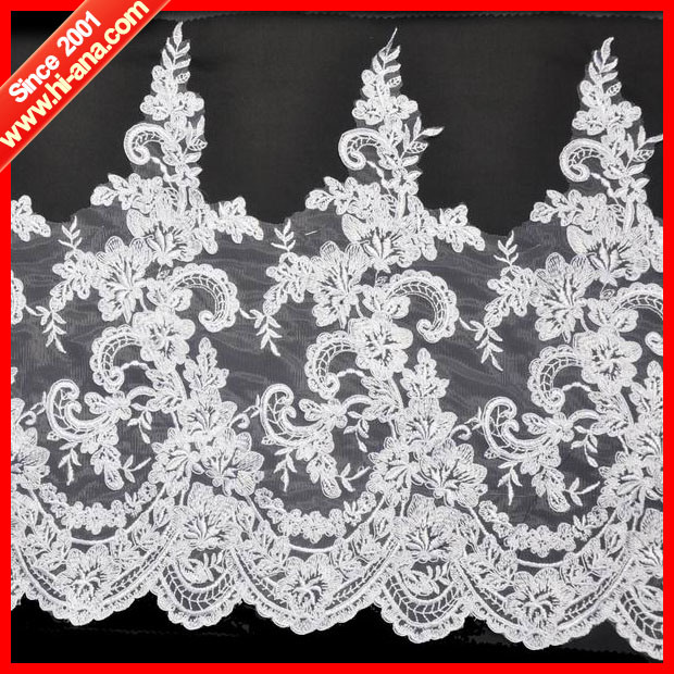 Trade Assurance Hot Selling Embroidery Lace Sequin Pearl