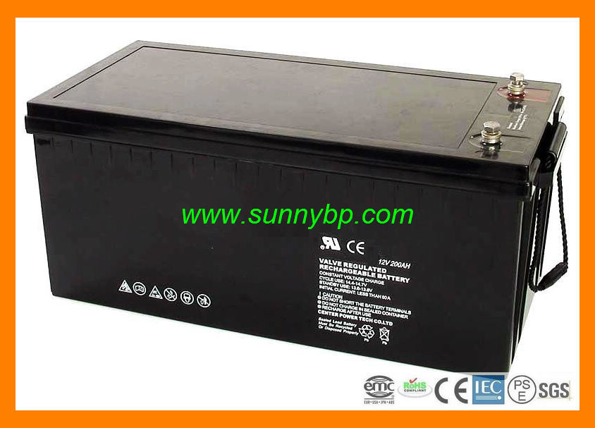 12V 100ah/200ah Rechargeable Maintenance Free Battery for Solar Power System