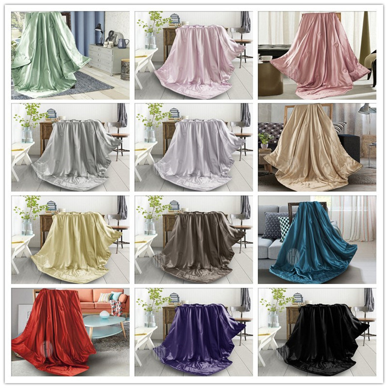 Violet Color Silk Throw Blanket for Summer Season