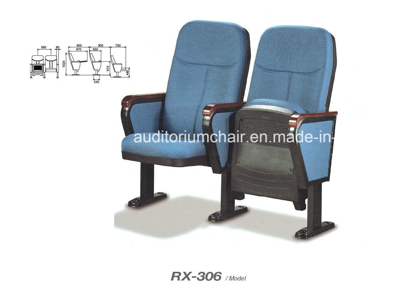 High-Quality Polypropylene Seat Cover Auditorium Chair (RX-306)