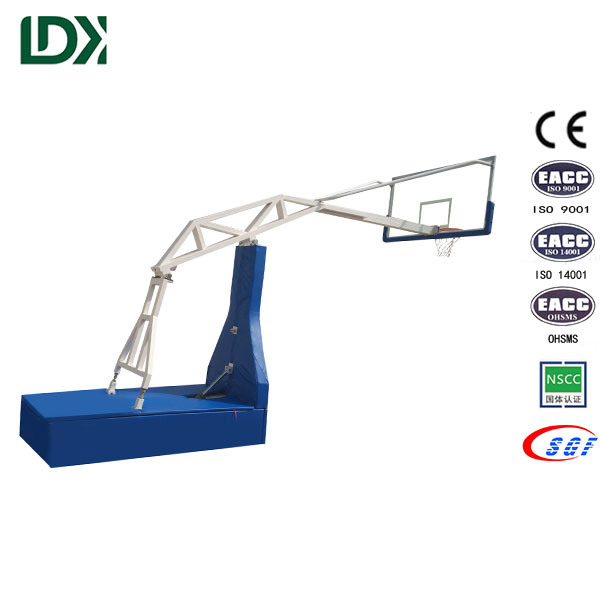 Indoor Stadium Basketball Stand, Academy Basketball Stand with Acrylic Backboard