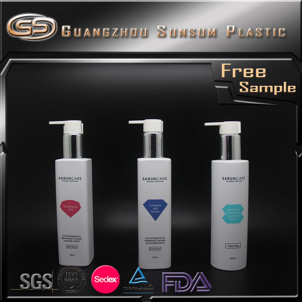 100ml 250ml 300ml Lotion Pump Bottle Square Packaging