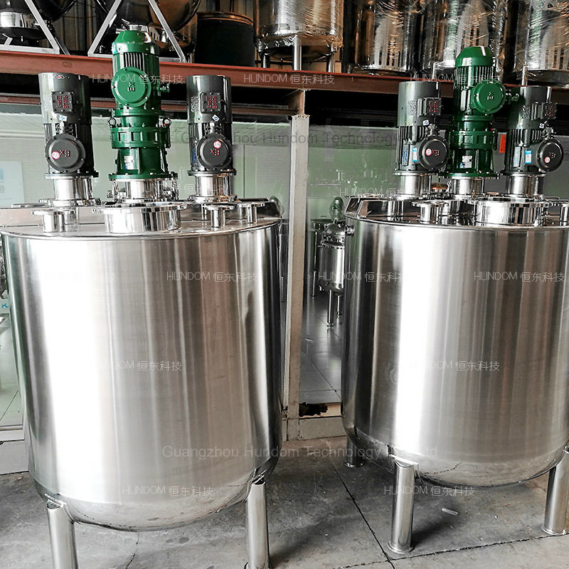 High Quality Liquid Mixing Tank with Top Entry Agitator for Chocolate