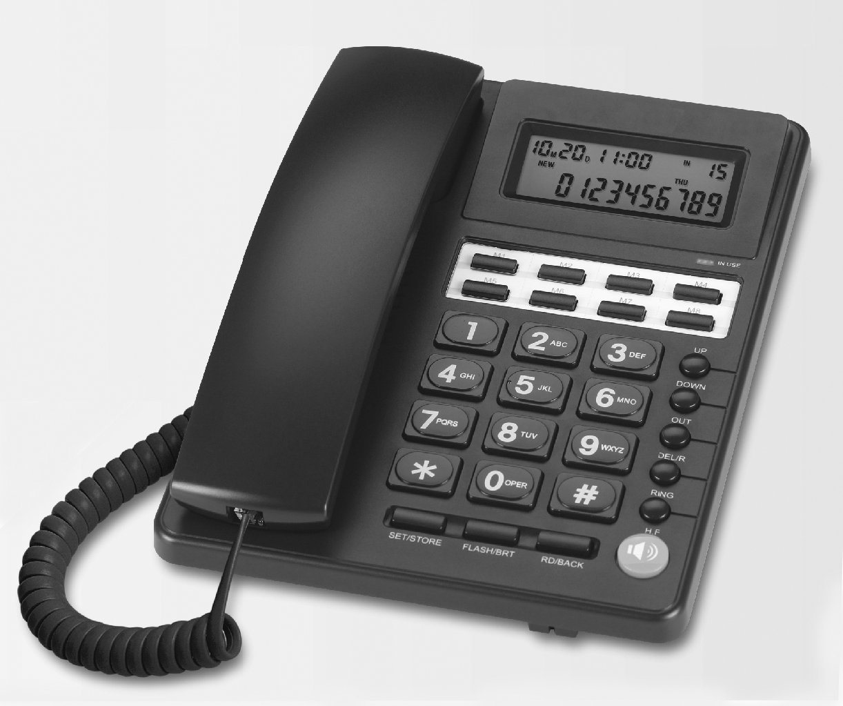 Caller ID Phone C285, Landline Phone, Office Phone, Memories Phone, One Touch Dialing Phone
