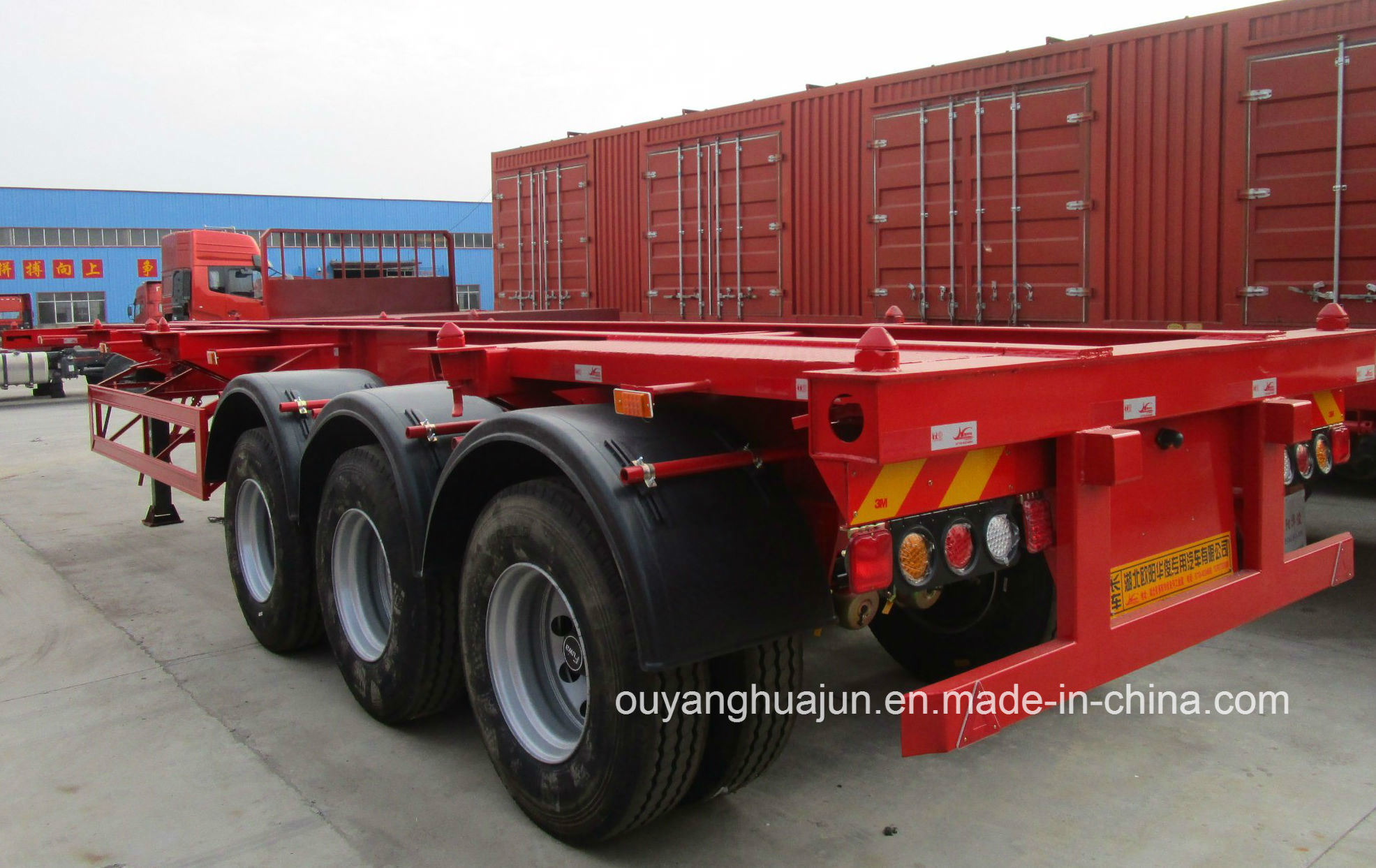 40 Feet Skeleton Container Semitrailer