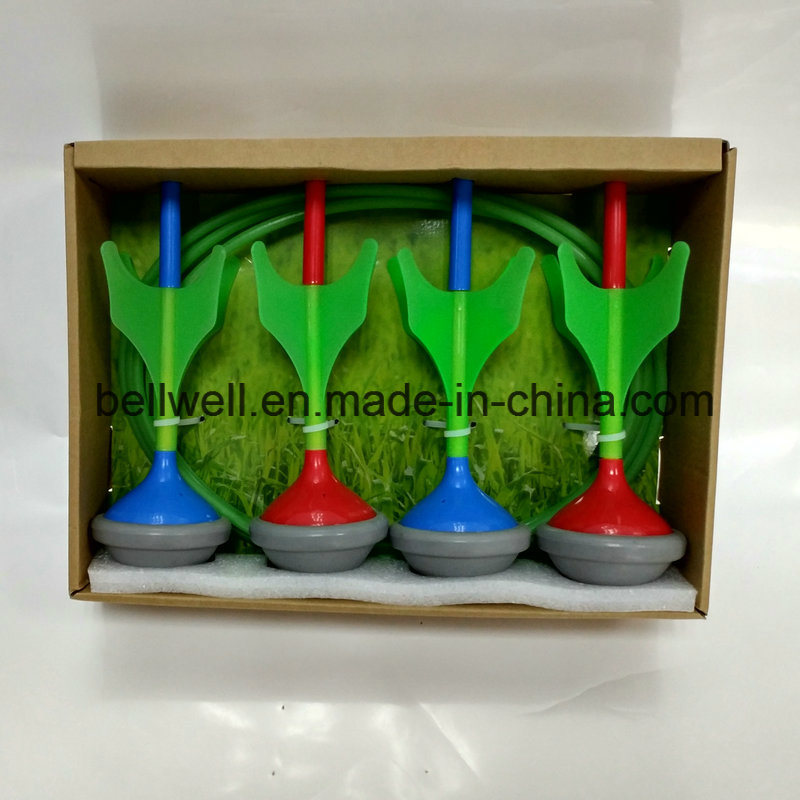 Glow in The Dark Garden Lawn Darts Game Set with 4PCS Darts and 2PCS Target