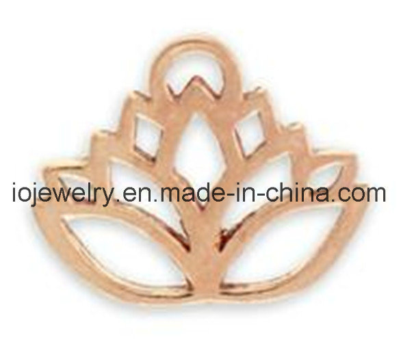 Small Lotus Charm for DIY Jewelry Making