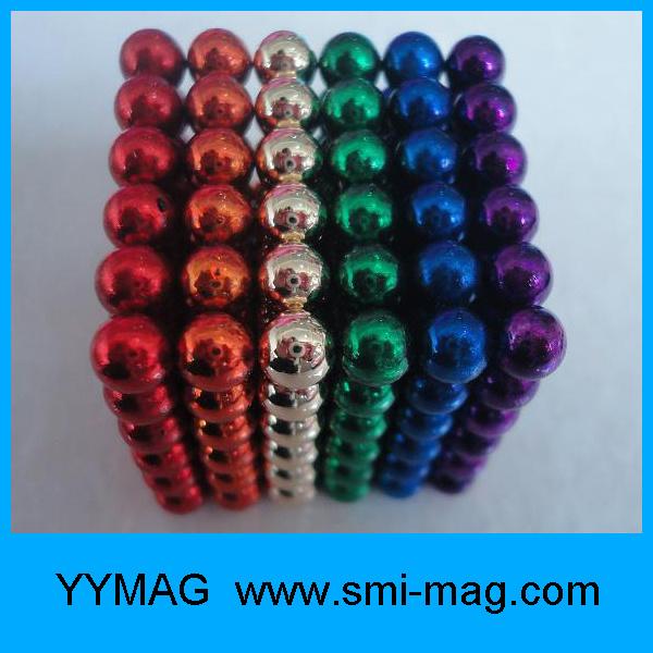 High Quality N35 Colorful Diameter 5mm Sphere Magnet Rubik Cube