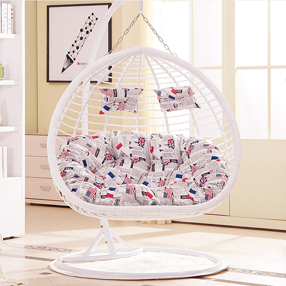 Outdoor Wicker/Rattan Egg Shape Furniture Garden Hanging Swing Chair