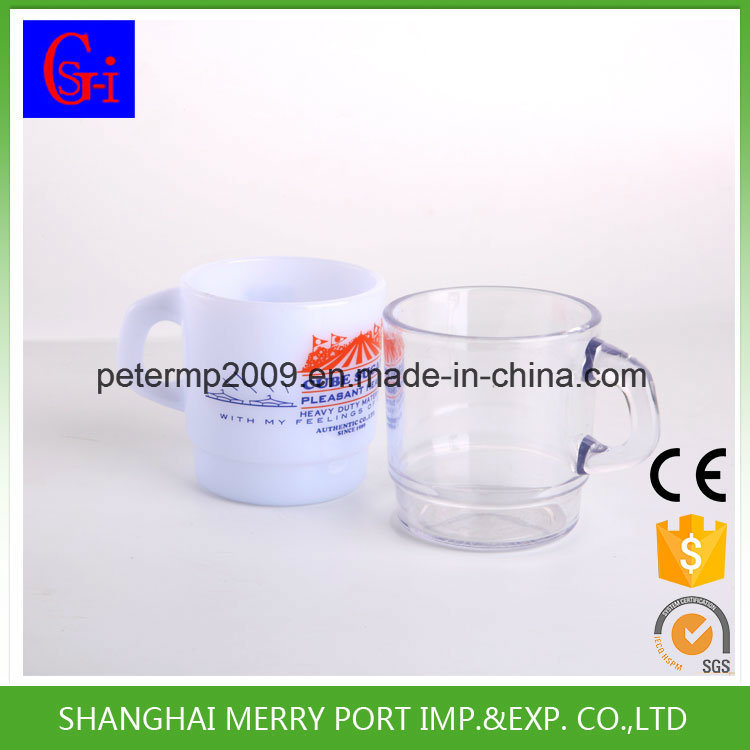Plastic Cup Disposable Cup Coffee Mugs 12 Oz Tableware with Handles