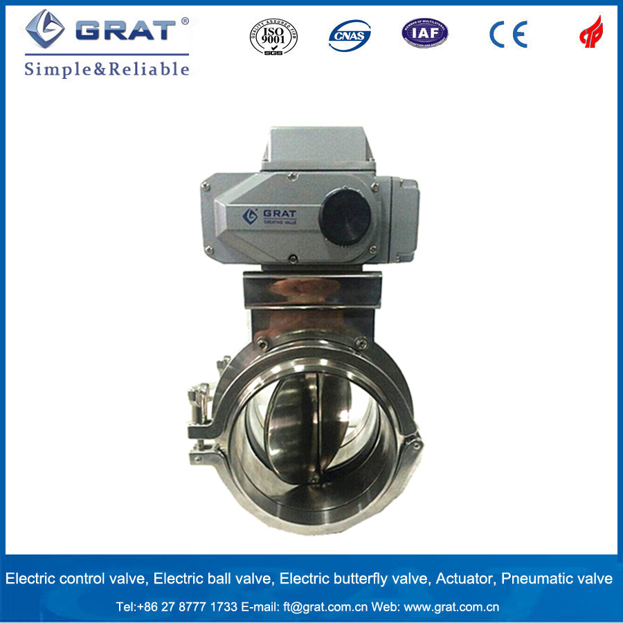 Stainless Steel 316L Sanitary Electric Butterfly Valve