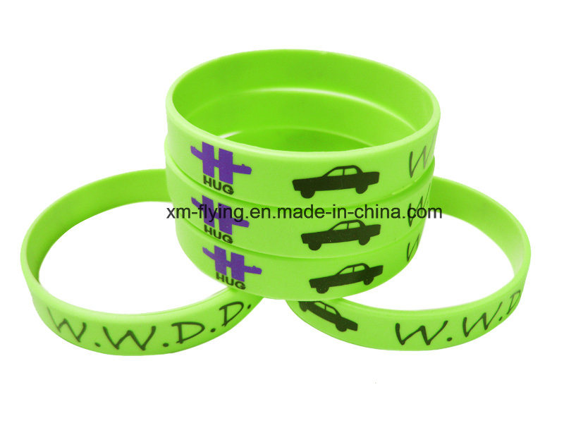 Promotional Customized Logo Printed Silicone Wristbands for Events