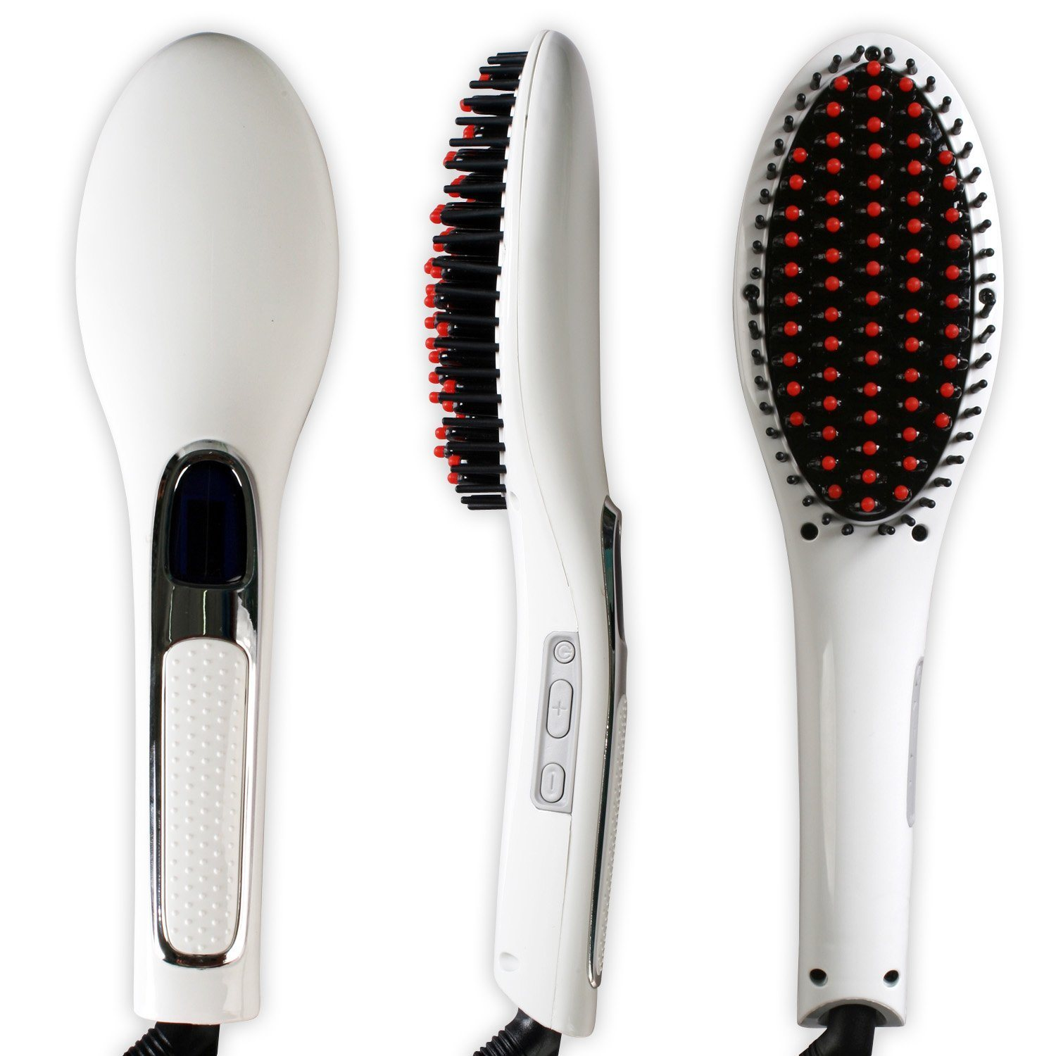 Brush Hair Straightener Comb Irons Come with LCD