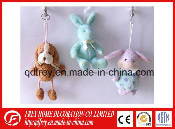 Cute Promotional Gift Mini Plush Rabbit Keychain Toy