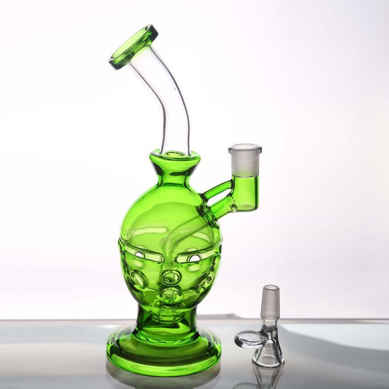 Fashion Green Smoking Pipes Glass Water Pipes Oil Rigs Pipes