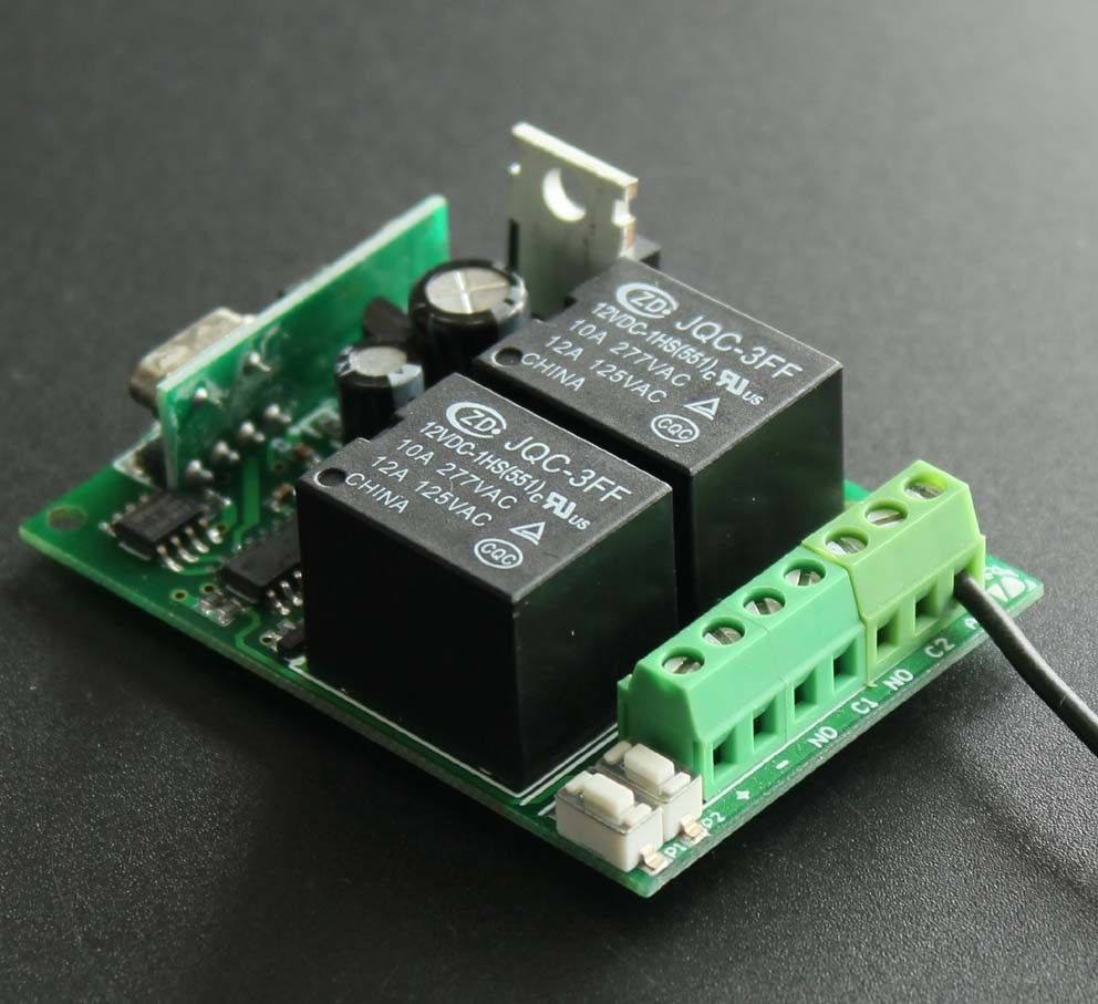 2 Channel Universal Receiver with Transmitter of 315MHz or 433MHz