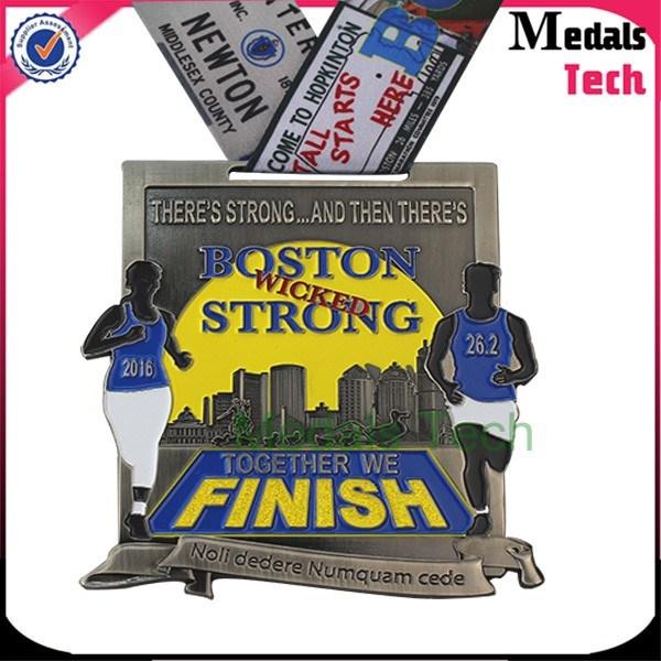 2017 Custom Zinc Alloy Marathon Running Title Sport Ranked Race Medal