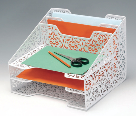 Decorative Desk Organizer/ Metal Mesh Stationery Organizer/ Office Desk Accessories