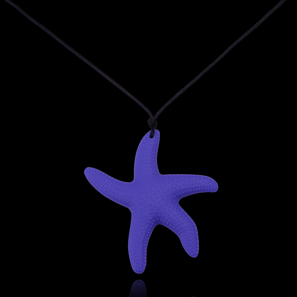 Fashion Sea Star Pendant Silicone Necklace Jewelry New Material Necklace for Women