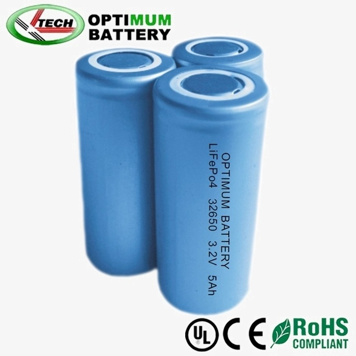Deep Cycle Cylindrical 3.2V5ah LiFePO4 Rechargeable Battery