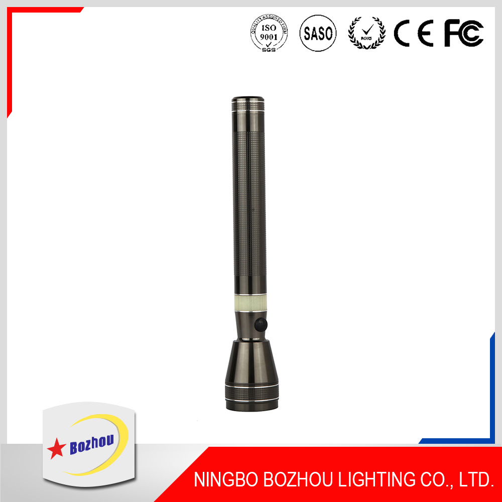 Factory Price Gold High Power Rechargeable LED Torch Flashlight