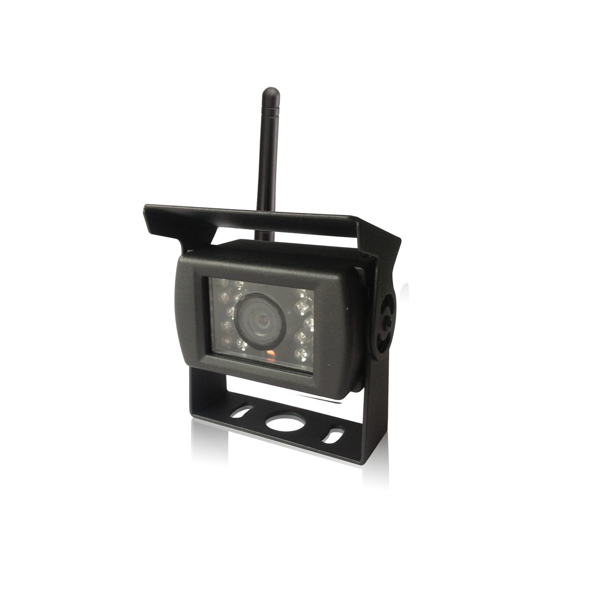7-Inch 4CH Digital Recording Monitor Wireless Rear View Camera for Trucks, Farm Tractor, Cultivator, Trailer, Buses