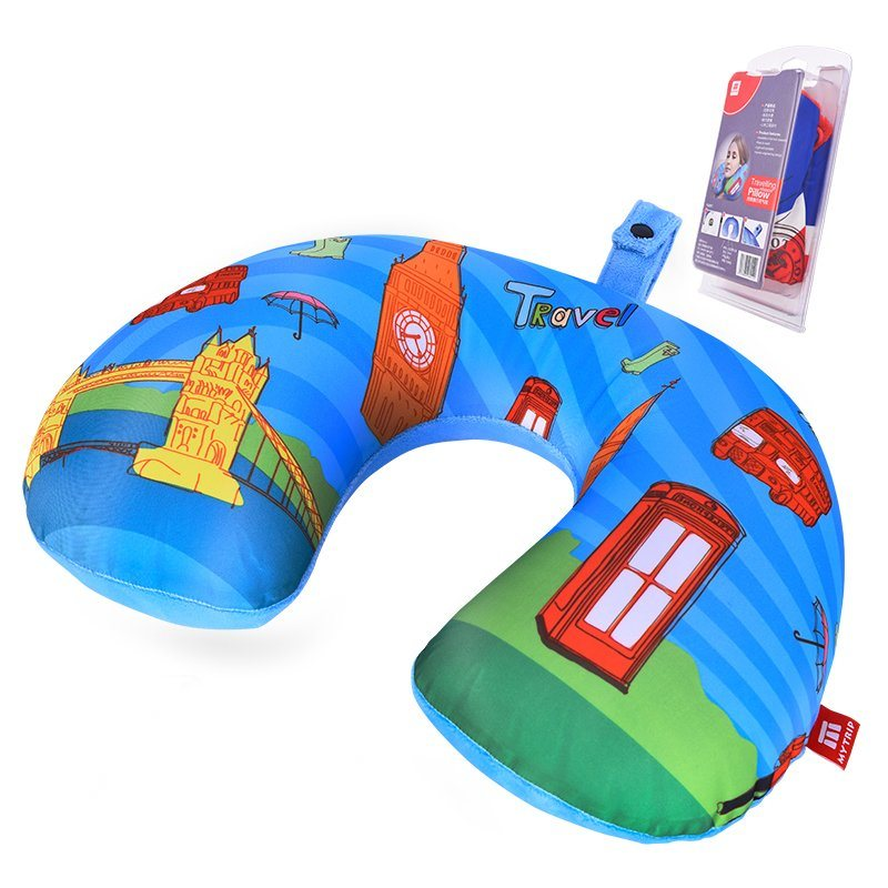 Inflatable Travel Beach Neck U Shape Pillow for Airplane
