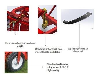 Single-Row Potato Harvester Mini Potato Digger Walking Tractor