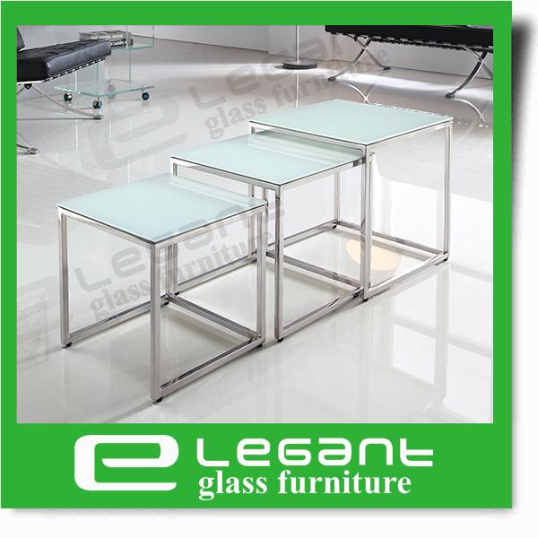 Clear Bent Glass Coffee Table with Chou-Heung Wood Veneer Shelf