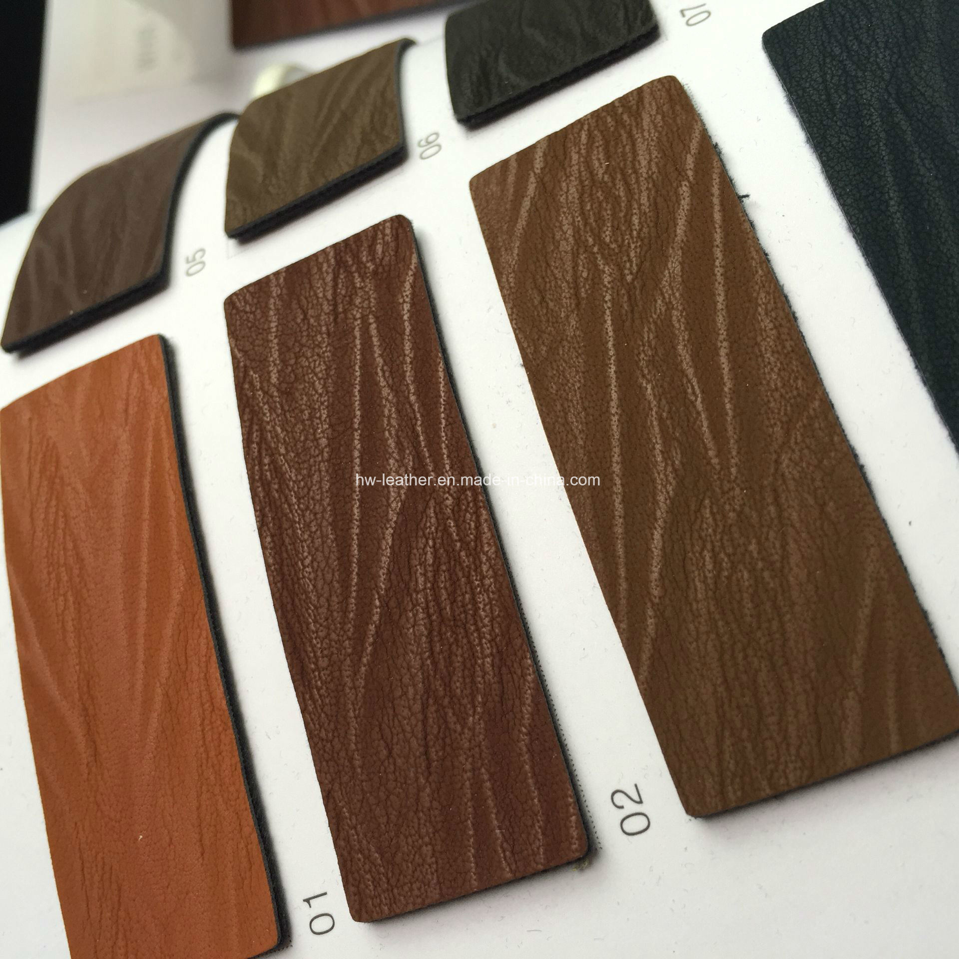 New Design Synthetic PU Leather for Shoes Hx-S1716