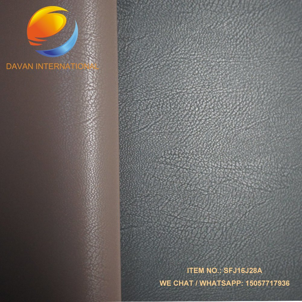 PU Leather Silky Flocking Leather for Shoes Bags