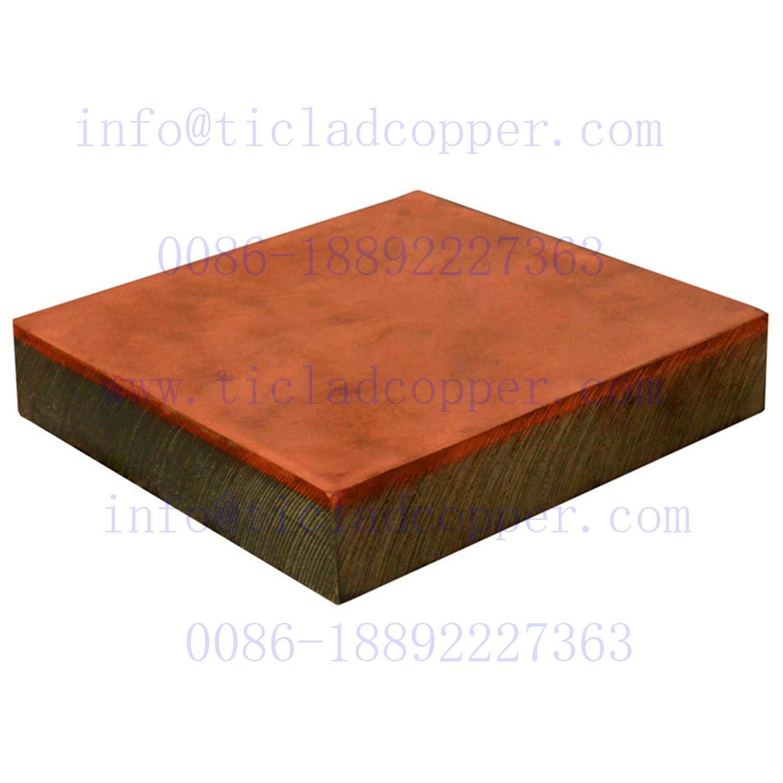 Explosion Bonding/ Metallurgical Bond Gr2 Titanium Clad Copper Plate Sheet for Surface Treatment