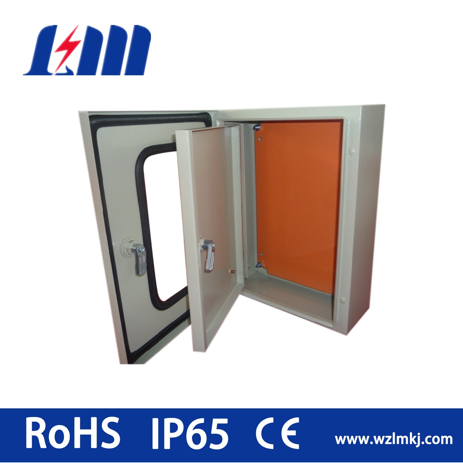 Stainless Steel Distribution Box with Glass IP65/AISI304 Enclosure