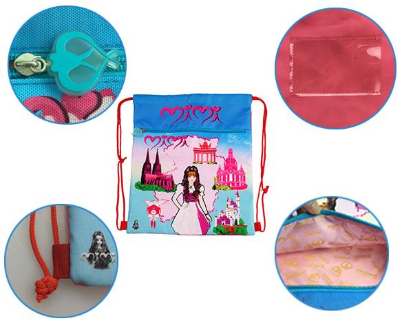 Cute Sport Drawstring Gym Bags for Girls (BF1608327)
