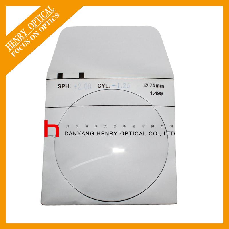 1.499 75mm Single Vision Hard Resin Lens Hc
