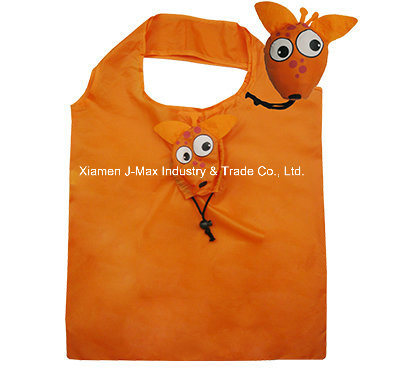 Foldable Gifts Shopping Bag with 3D Pouch, Animal Bee Style, Reusable, Lightweight, Promotional
