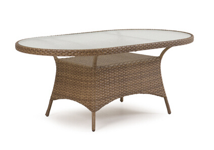 Patio Oval Rattan Wicker Garden Outdoor Furniture Dining Table