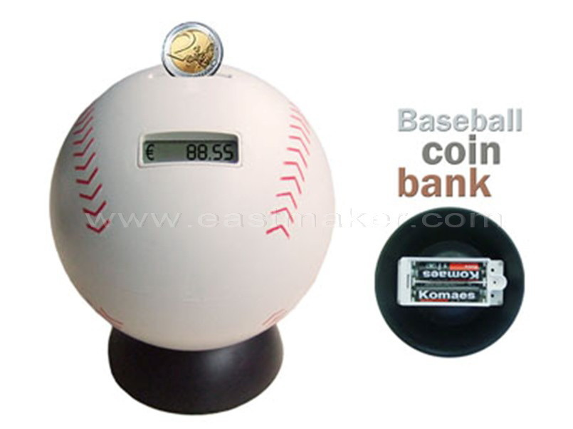 China baseball coin bank china counting money jar money jar - Coin bank that counts money ...