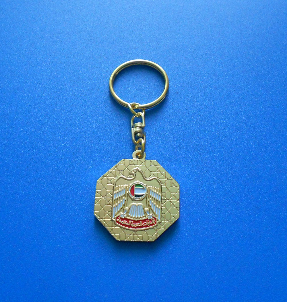 UAE National Day Falcon Metal Key Chain as Promotional Gifts